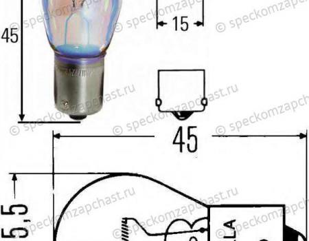 Лампа заднего фонаря одноконтактная(12V-P21W) на Пежо Боксер - 6216A4