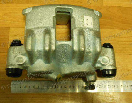 Суппорт тормозной передний правый (цилиндр) (с ABS) (Q18) на Фиат Дукато - 77364462