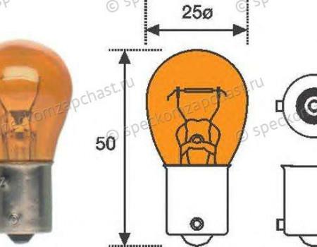 Лампа фонаря заднего и поворотника в фаре (12V-PY21W) на Пежо Боксер - 6216A0