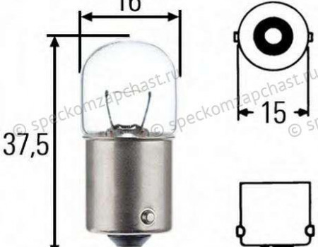 Лампа фонаря заднего 12V 5W на Форд Транзит - 6090984