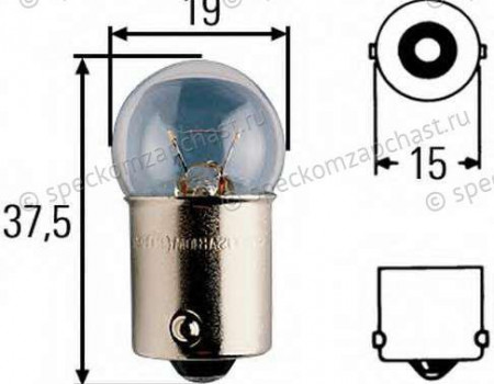 Лампа освещения салона 12V 10W на Форд Транзит - 6090985