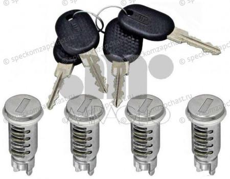 Личинка замка комплект (двери, крышка бочка, зажигание) (2 ключа, 7 личинок) на Фиат Дукато - 71751583