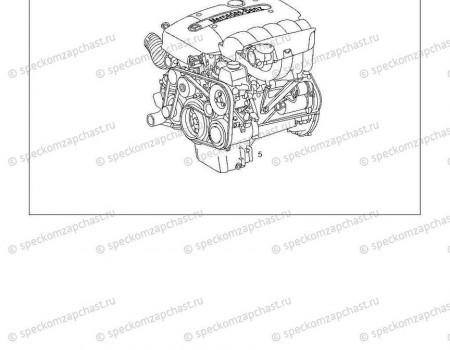 Двигатель в сборе (без навесного) на Мерседес Спринтер - A6110108846