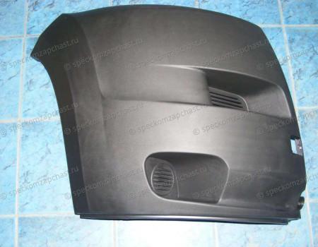 Бампер передний (правая часть) (черный) на Пежо Боксер - 735423157
