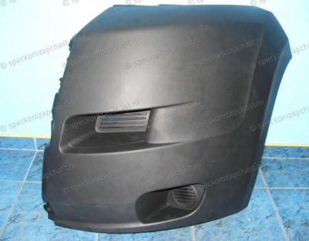 Бампер передний (левая часть) (черный) на Пежо Боксер - 735423156