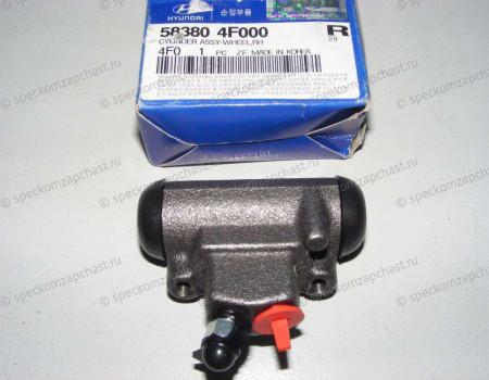 Цилиндр тормозной рабочий задний правый на Хендай Портер 2 - 583804F000