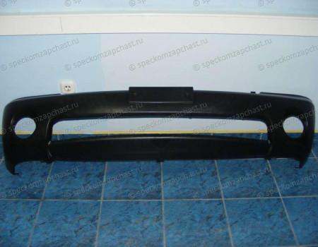 Накладка бампера переднего (круглые ПТФ) на Хендай Портер 2 - 865114F010