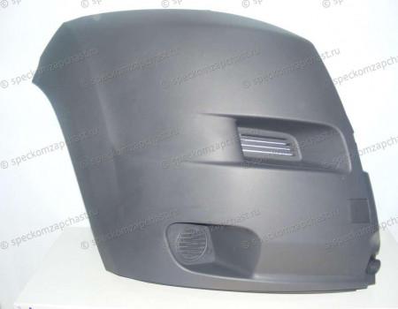 Бампер передний (правая часть) (серый) на Пежо Боксер - 7401FG